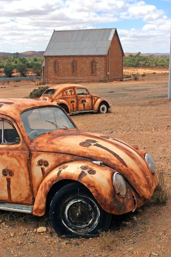 Australiano outback - casa ed automobili fotografia stock libera da diritti