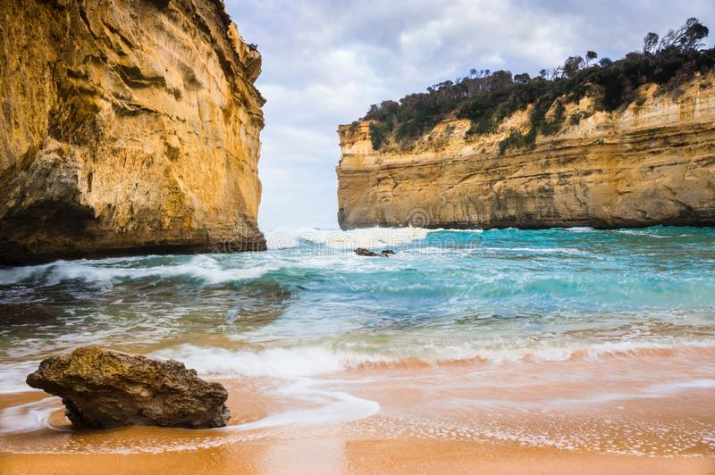 Australias Southcoast, Victoria, Twelve Apostles. The twelve Apostles are one of the most knowen natural Monuments at the southcoast of Australia. Unfortunatly a royalty free stock photo
