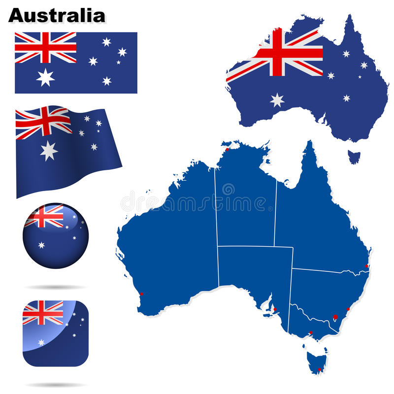 Australiaset ilustração royalty free
