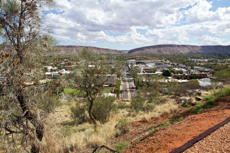 Australie, Alice Springs, Anzac Hill Lookout photo libre de droits