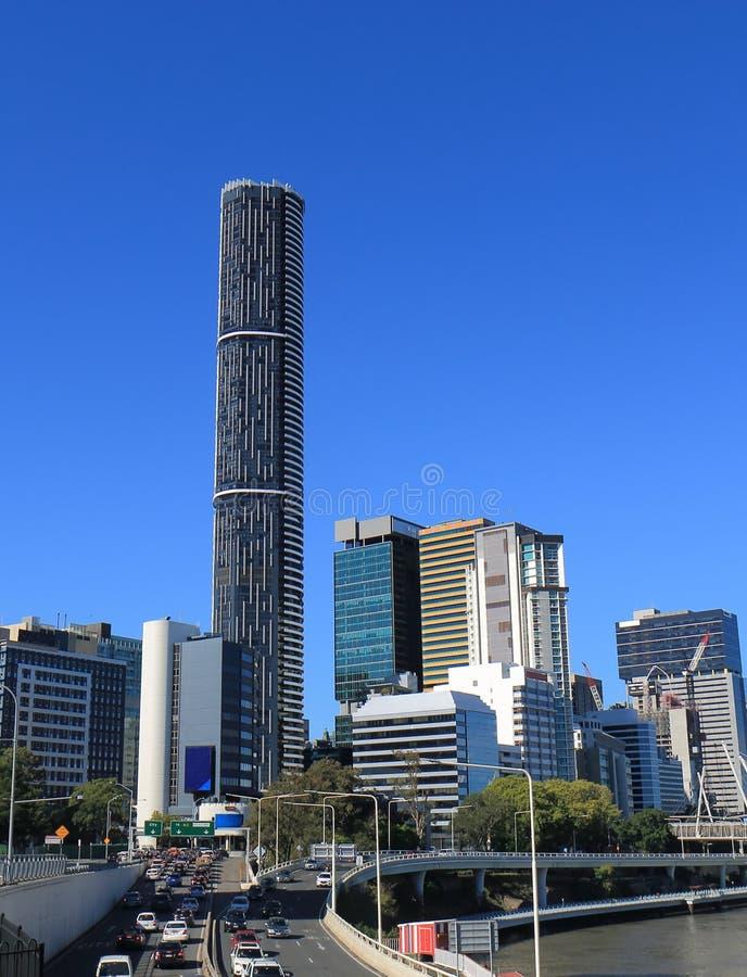 Australie d'embouteillage de paysage urbain de Brisbane photos stock