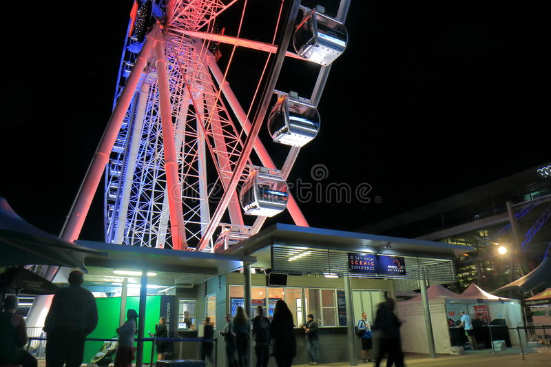 Australie de Brisbane de grande roue photo stock