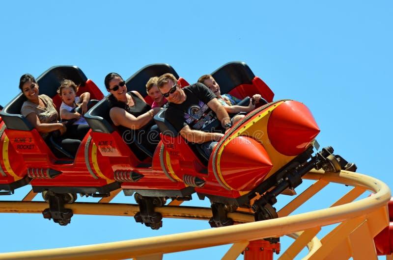 Australie de la Gold Coast du monde de film de montagnes russes de coucou terrestre images stock
