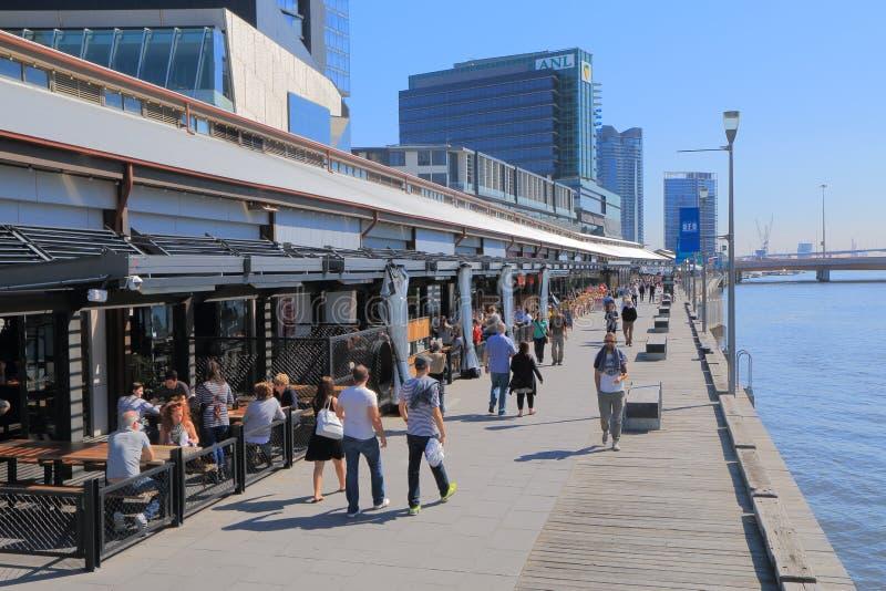 Australie de paysage urbain de bord de mer de Melbourne images stock