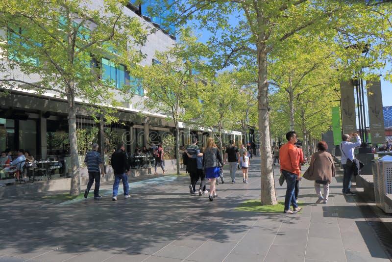 Australie de paysage urbain de Melbourne Southbank photos stock
