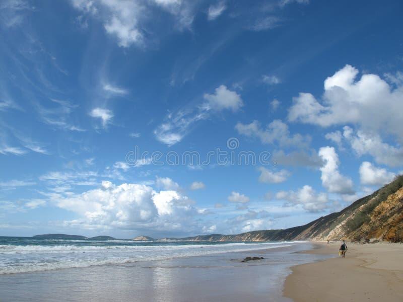 Australie de plage d'arc-en-ciel image libre de droits