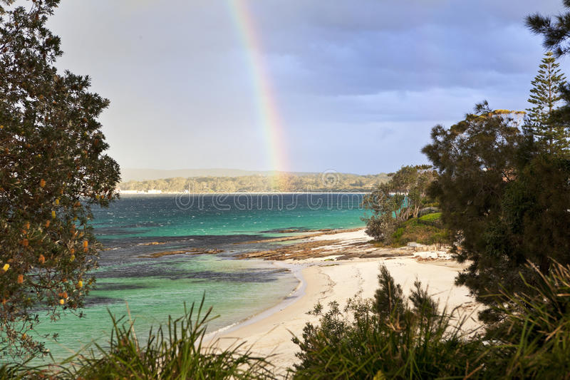 Australie de plage de Hyams image stock