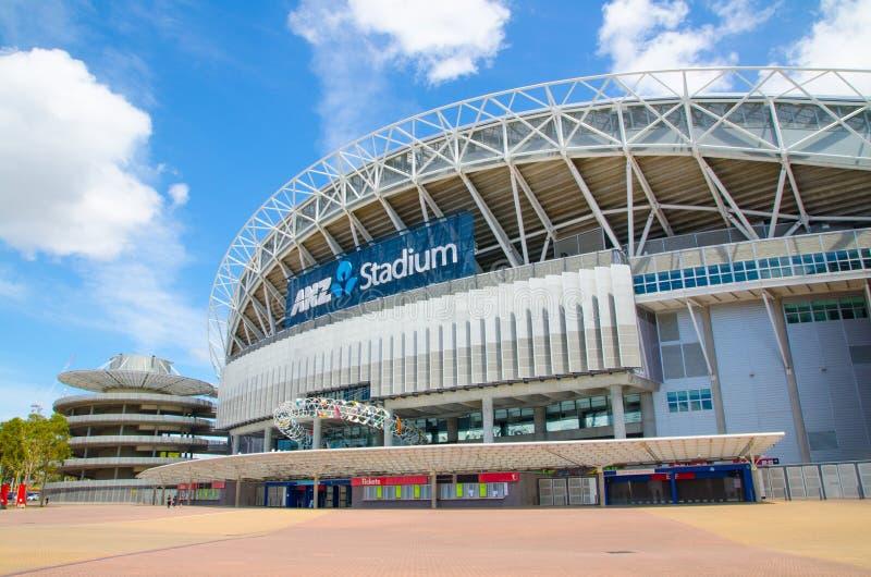 Australie de stade, commercialement connue sous le nom de stade d'ANZ situé dans Sydney Olympic Park images libres de droits