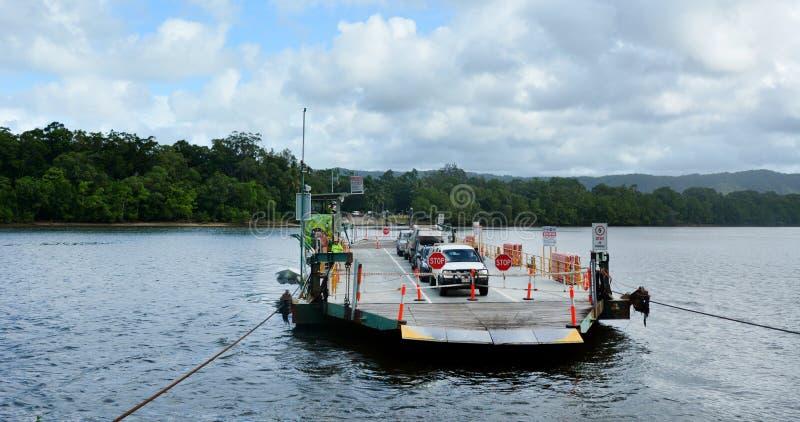 Australie du Queensland de ferry de rivière de Daintree photographie stock libre de droits