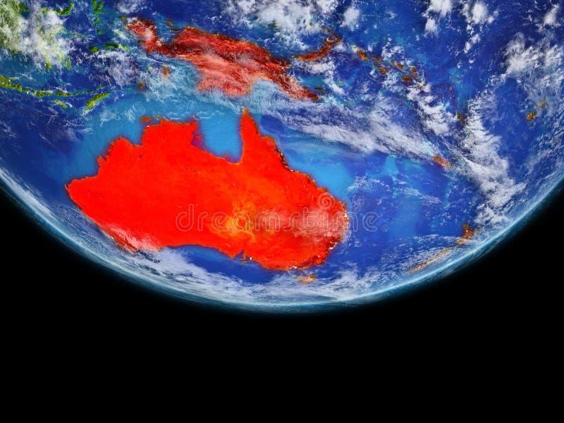 Australie en rouge sur terre illustration libre de droits