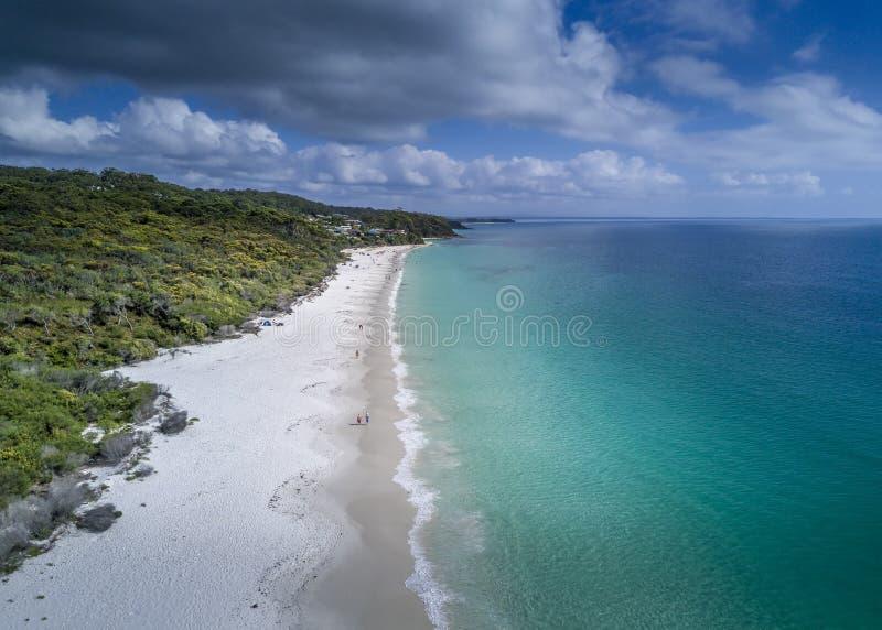 Australie idyllique de plage de Hyams photographie stock libre de droits
