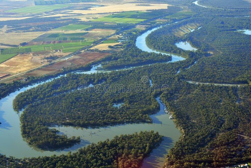 Australie, NSW, Mildura, vue aérienne images libres de droits