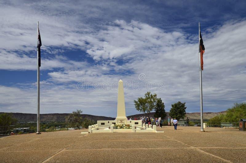 Australie, NT, Alice Springs, mémorial d'Anzac photographie stock libre de droits