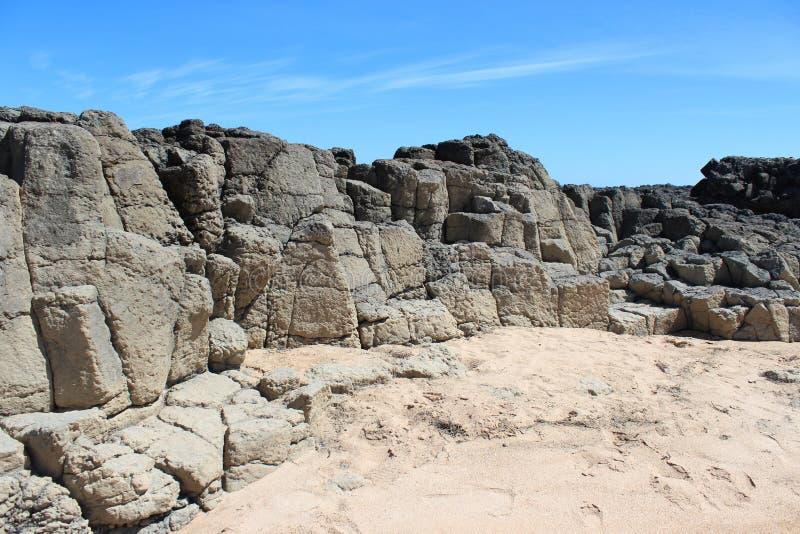 Australie occidentale basaltique de Bunbury de roche photographie stock libre de droits