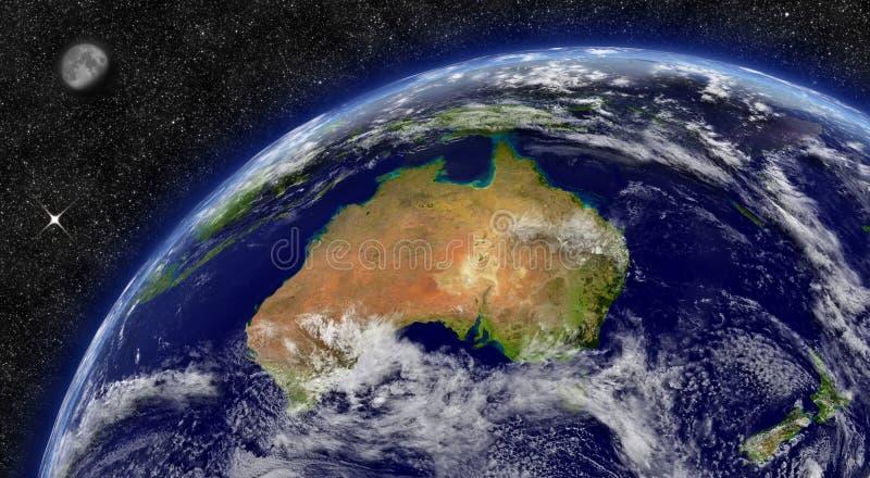 Australie sur terre de planète illustration stock