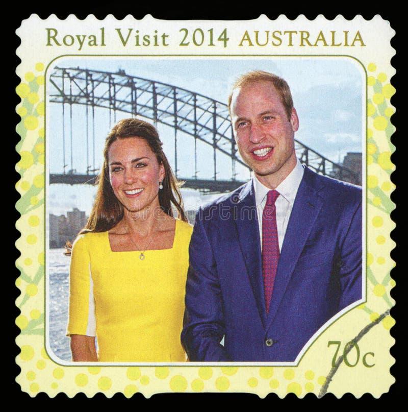 AUSTRALIE - timbre-poste image libre de droits