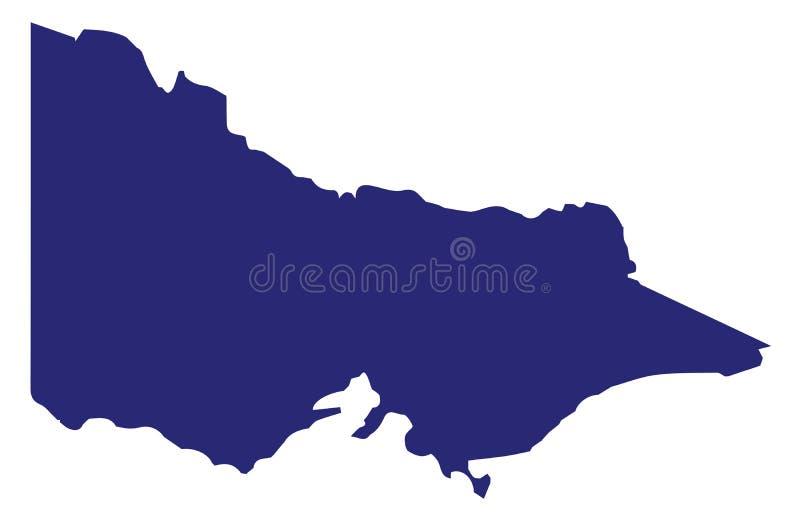 Australie Victoria State Silhouette illustration de vecteur