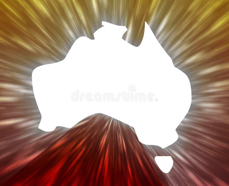 Australien översikt stock illustrationer