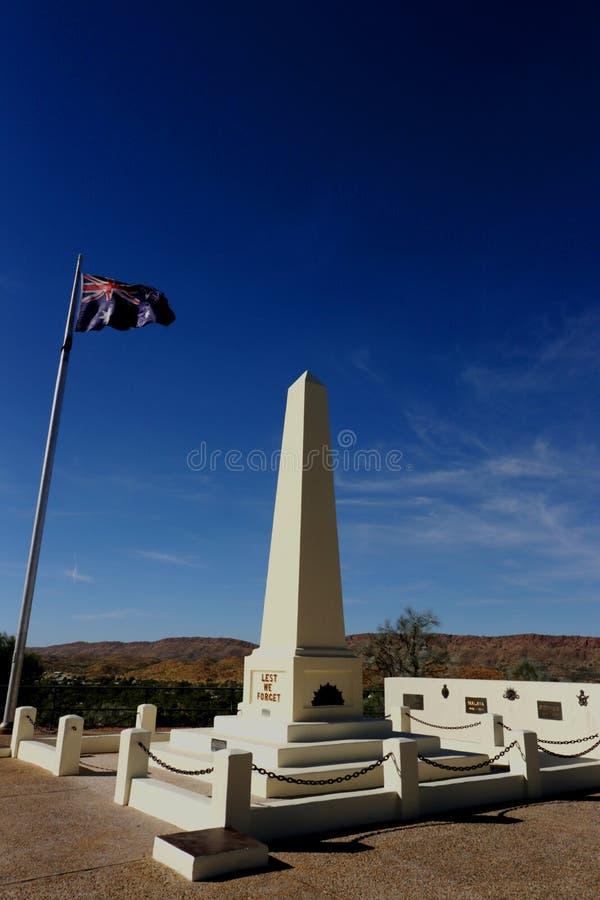 Australien Anzac Hill - de peur que nous oubliions images libres de droits