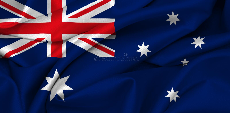 Australien australierflagga vektor illustrationer