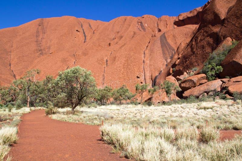 Australien Ayers vaggar, Uluru, Nonal parkerar, nordliga Territoryati royaltyfria bilder