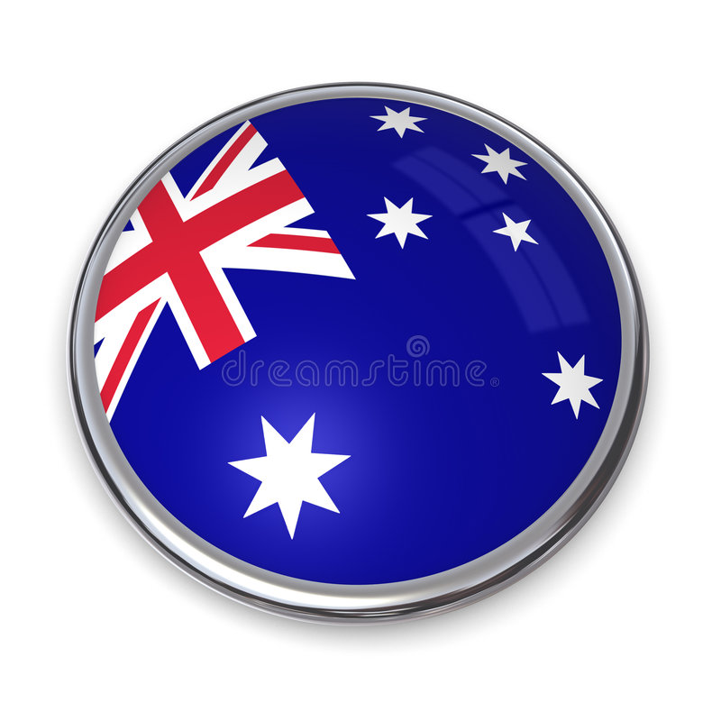 Australien banerknapp royaltyfri illustrationer
