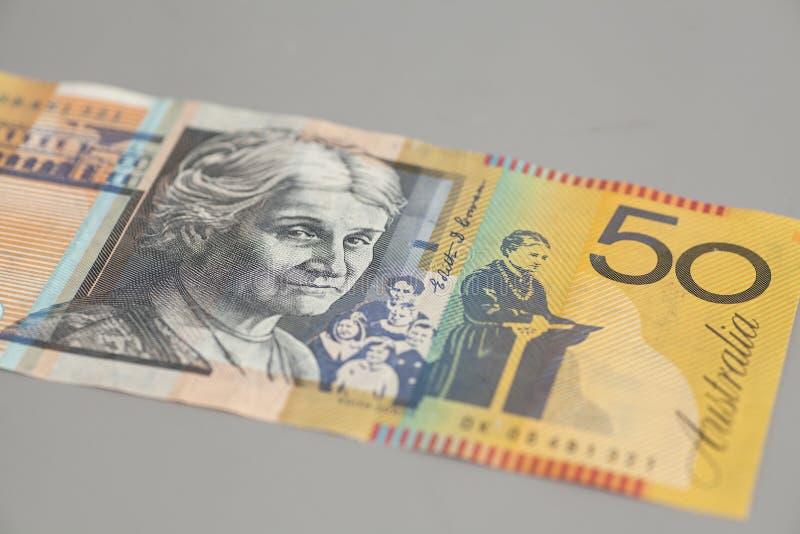 Australien billet de banque des cinquante dollars photo stock