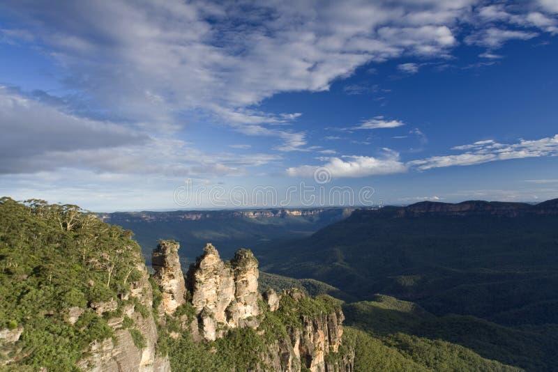 Australien blå bergnsw arkivfoto