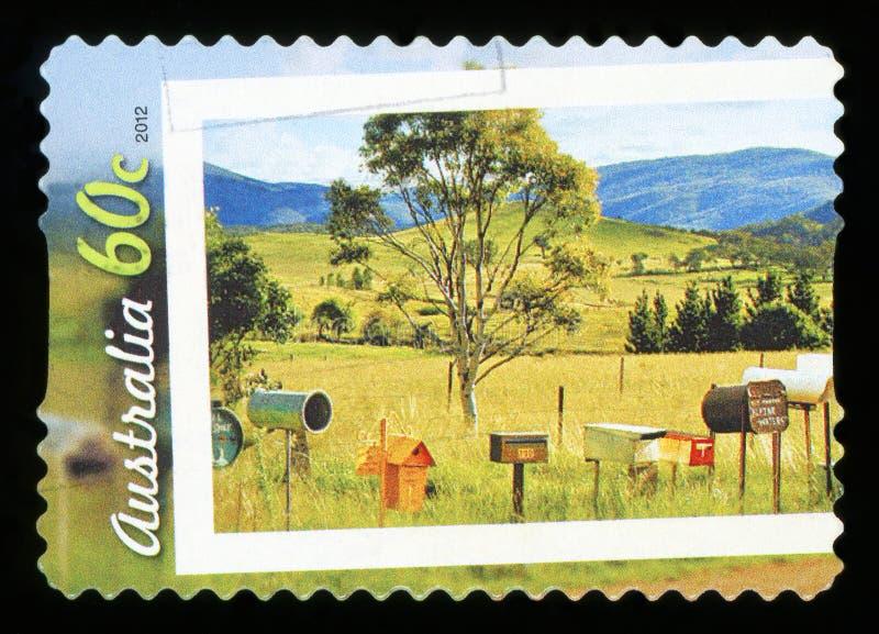 AUSTRALIEN - Briefmarke stockfotografie