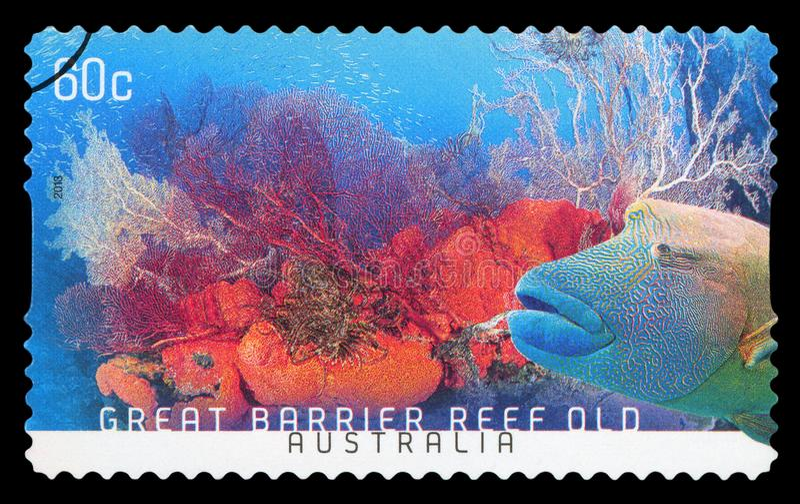 AUSTRALIEN - Briefmarke lizenzfreie stockbilder