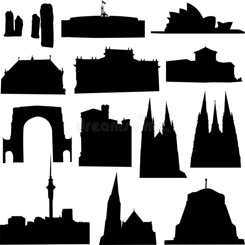 Australien byggnad vektor illustrationer