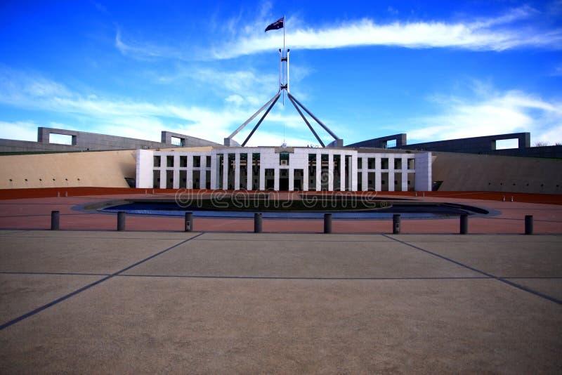 Australien byggnadscanberra parlament arkivfoto
