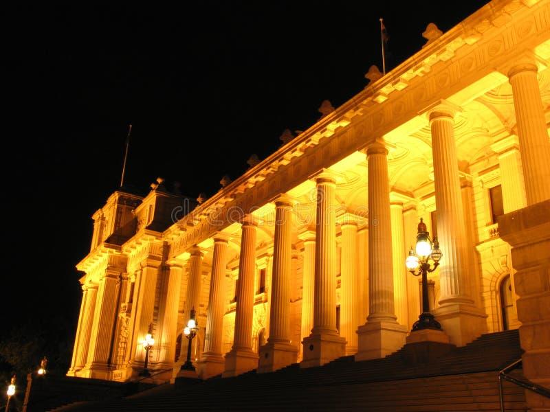 Australien byggnadsmelbourne parlament royaltyfri bild