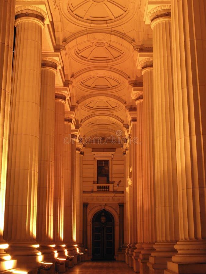 Australien byggnadsmelbourne parlament fotografering för bildbyråer