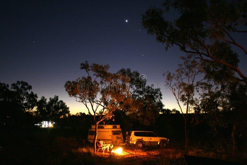 Australien campa som är starry royaltyfri fotografi