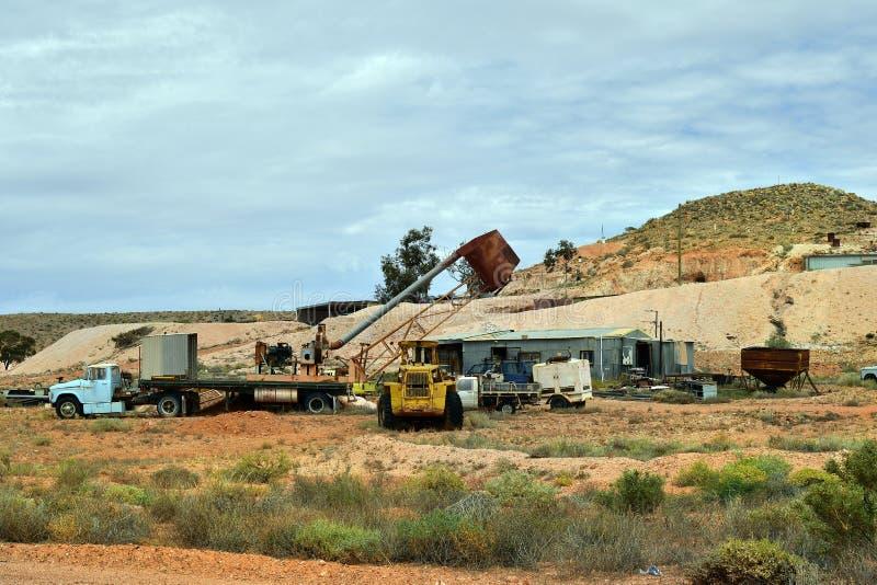 Australien Coober Pedy, Opal Mining royaltyfri bild