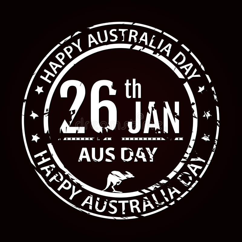 Australien dagstämpel i vektor Vitt emblem för lantgård för Australien vektor illustrationer