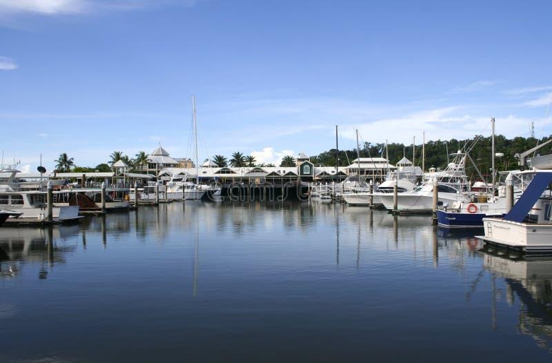 Australien douglas marinaport queensland arkivfoton