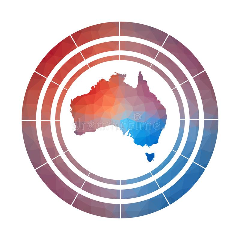 Australien emblem stock illustrationer