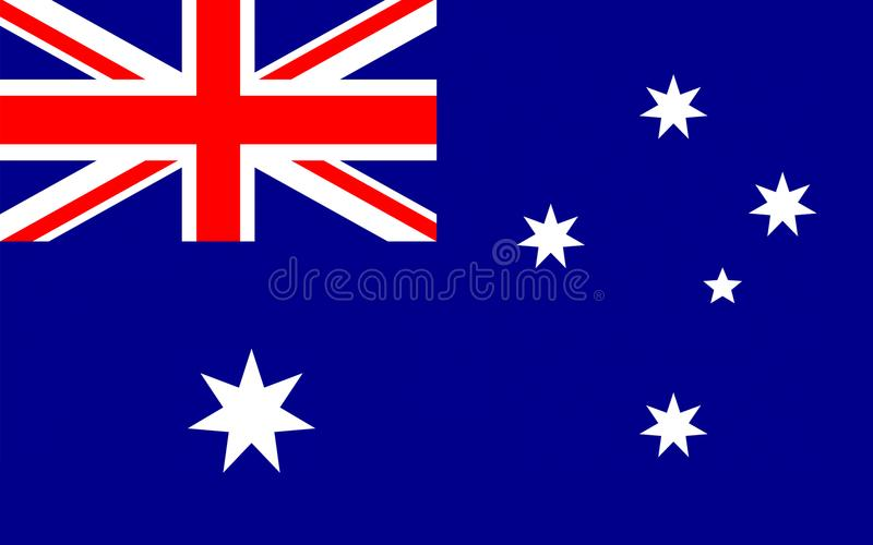 Australien flagga stock illustrationer