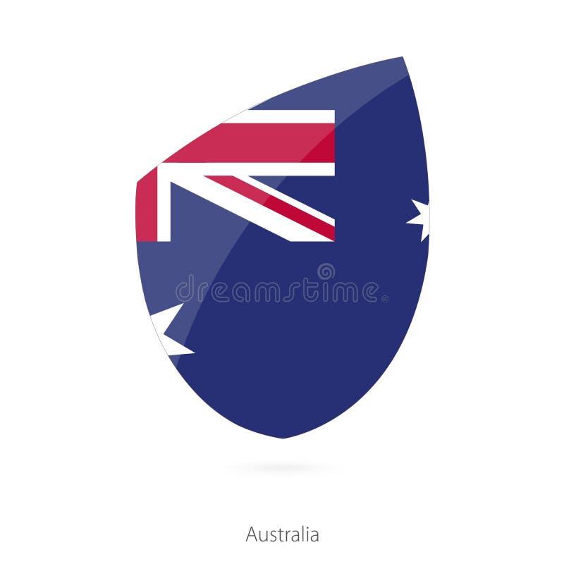 Australien flagga vektor illustrationer