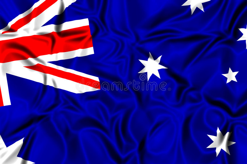 Australien flagga vektor illustrationer