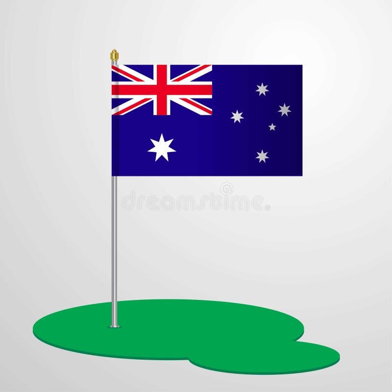Australien flagga Pole stock illustrationer