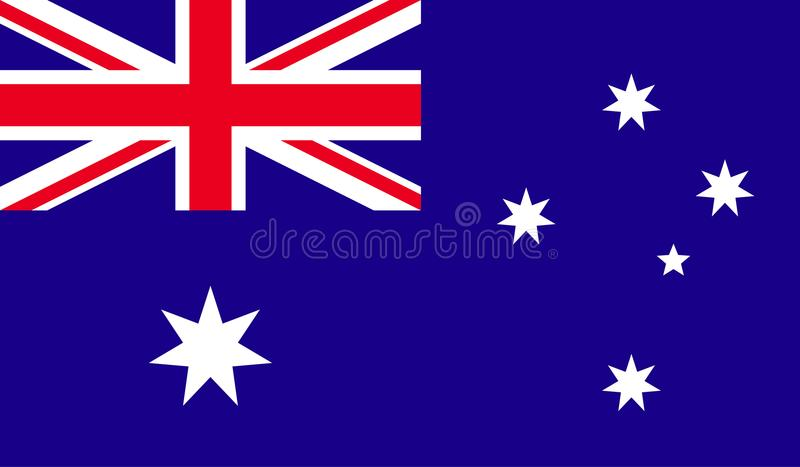 Australien flaggabild vektor illustrationer
