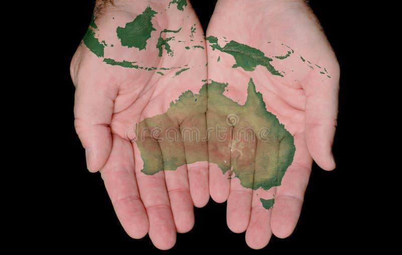 Australien hands målat översiktsvårt fotografering för bildbyråer
