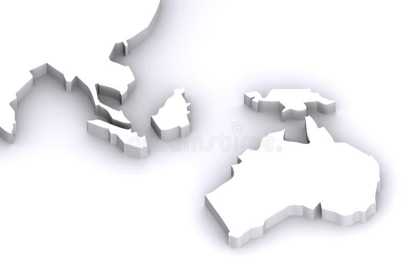 Australien japan översikt vektor illustrationer