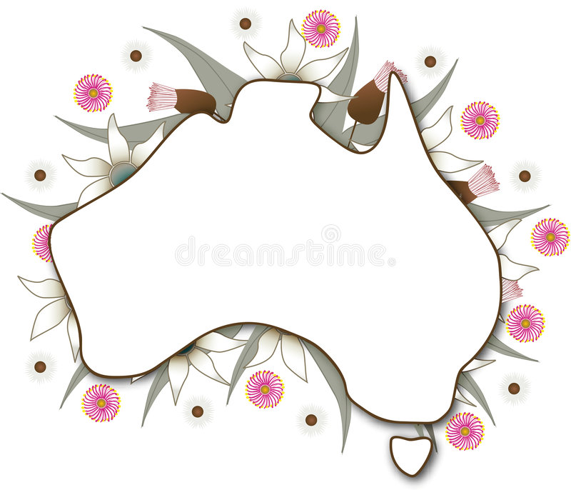 Australien-Karte vektor abbildung