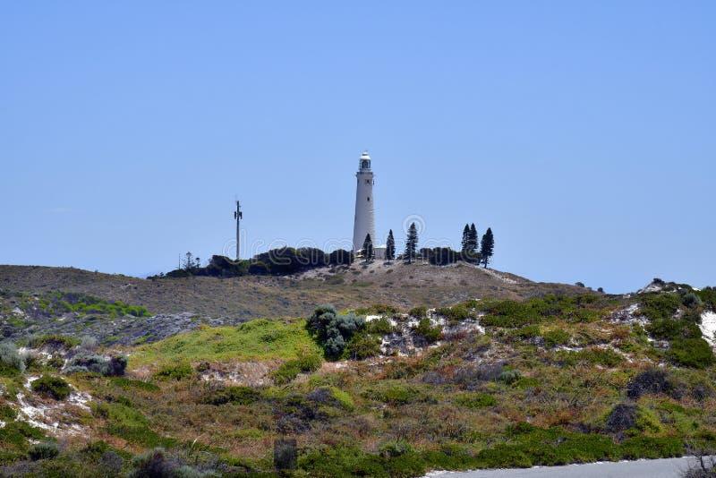 Australien, Leuchtturm auf Rottnest-Insel stockfotos