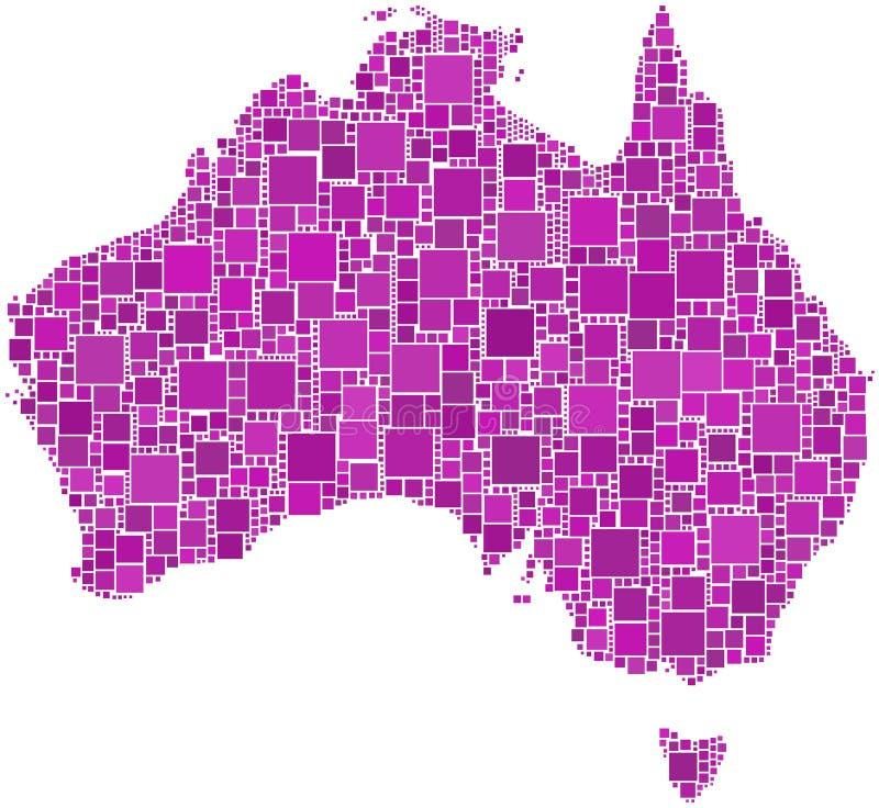 Australien mosaikpink stock illustrationer