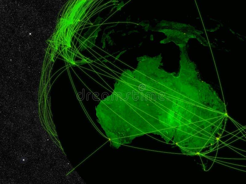 Australien-Netz lizenzfreie abbildung